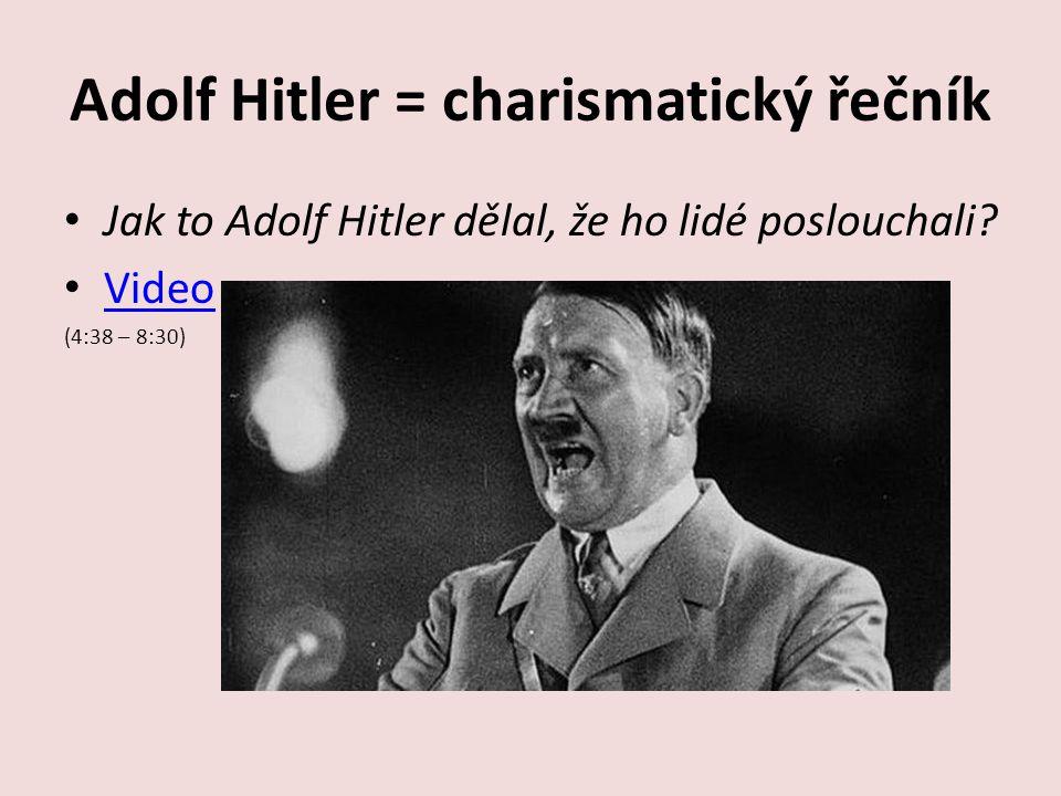 Adolf Hitler = charismatický řečník
