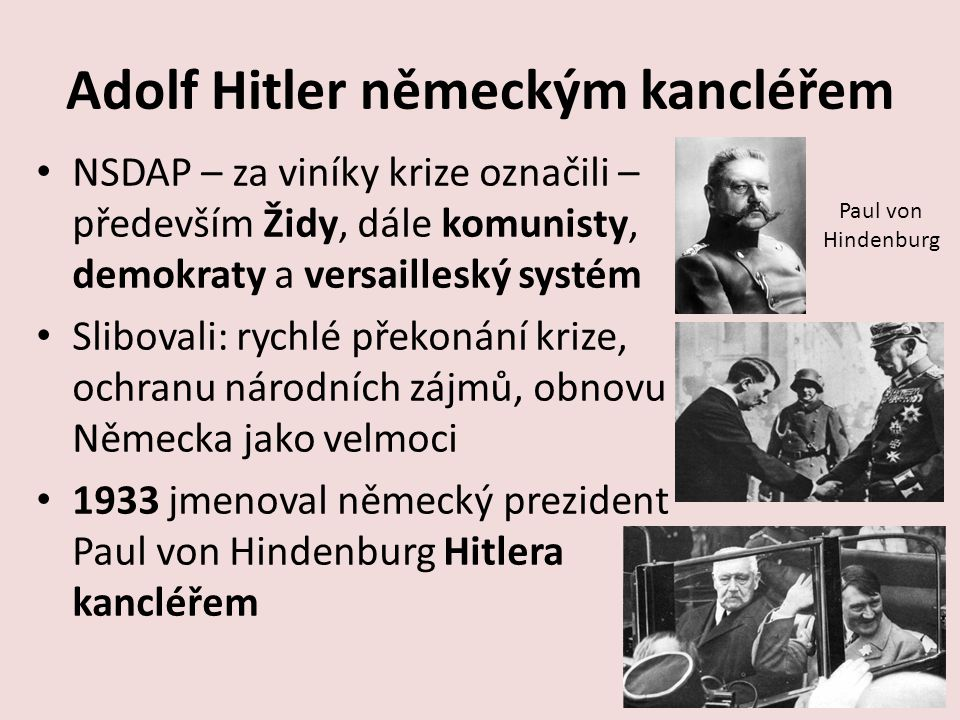 Adolf Hitler německým kancléřem