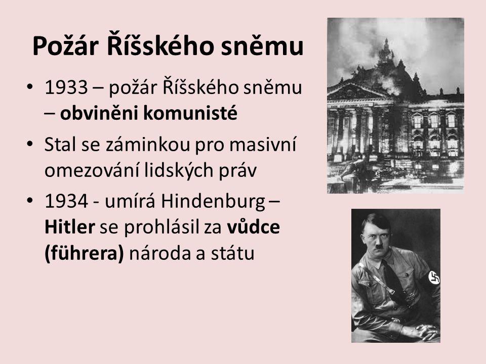 Požár Říšského sněmu 1933 – požár Říšského sněmu – obviněni komunisté