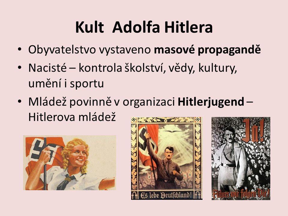 Kult Adolfa Hitlera Obyvatelstvo vystaveno masové propagandě