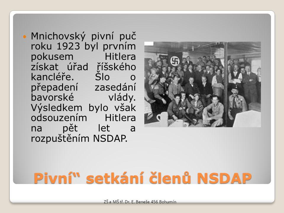 Pivní setkání členů NSDAP