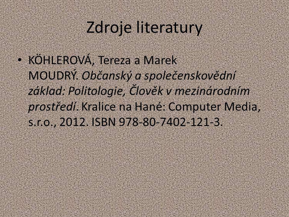 Zdroje literatury