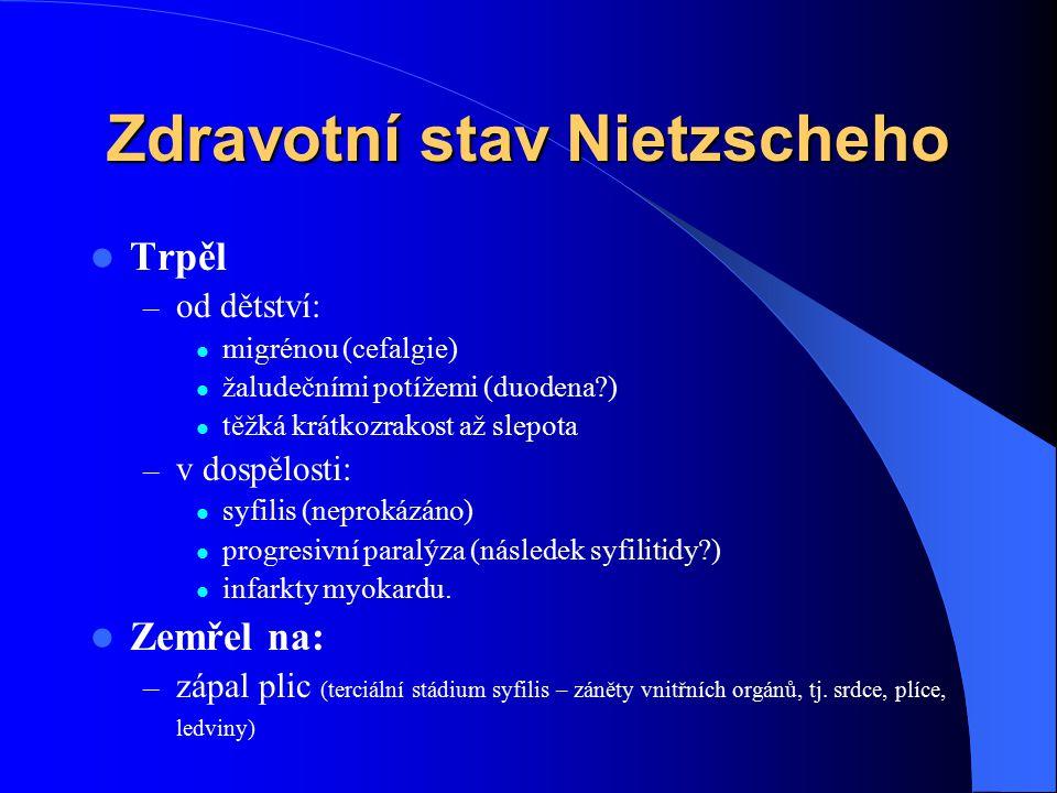 Zdravotní stav Nietzscheho