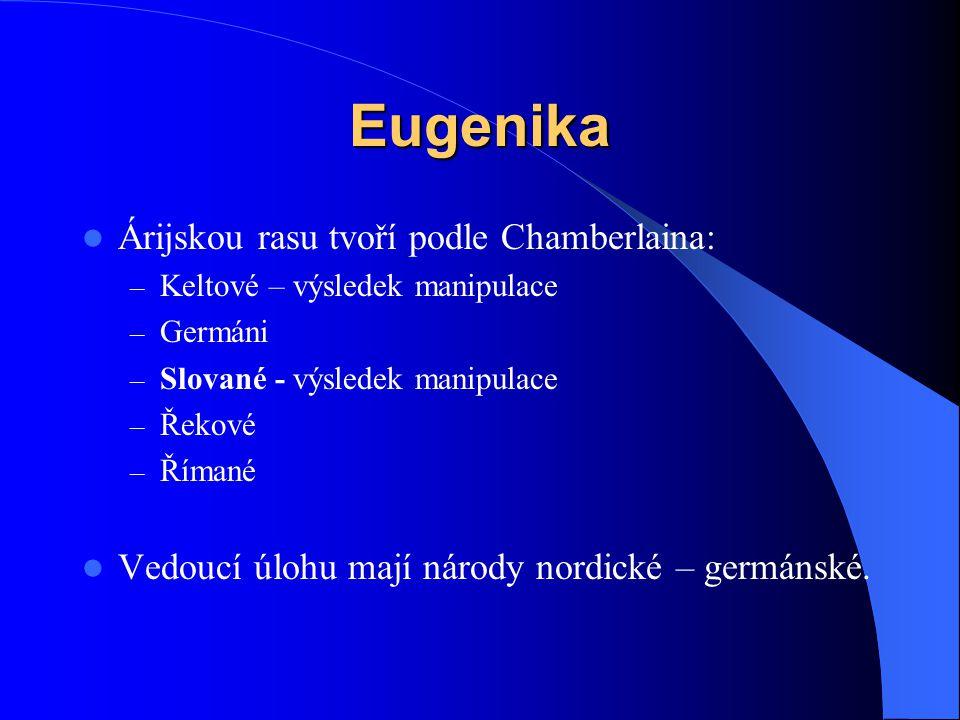 Eugenika Árijskou rasu tvoří podle Chamberlaina: