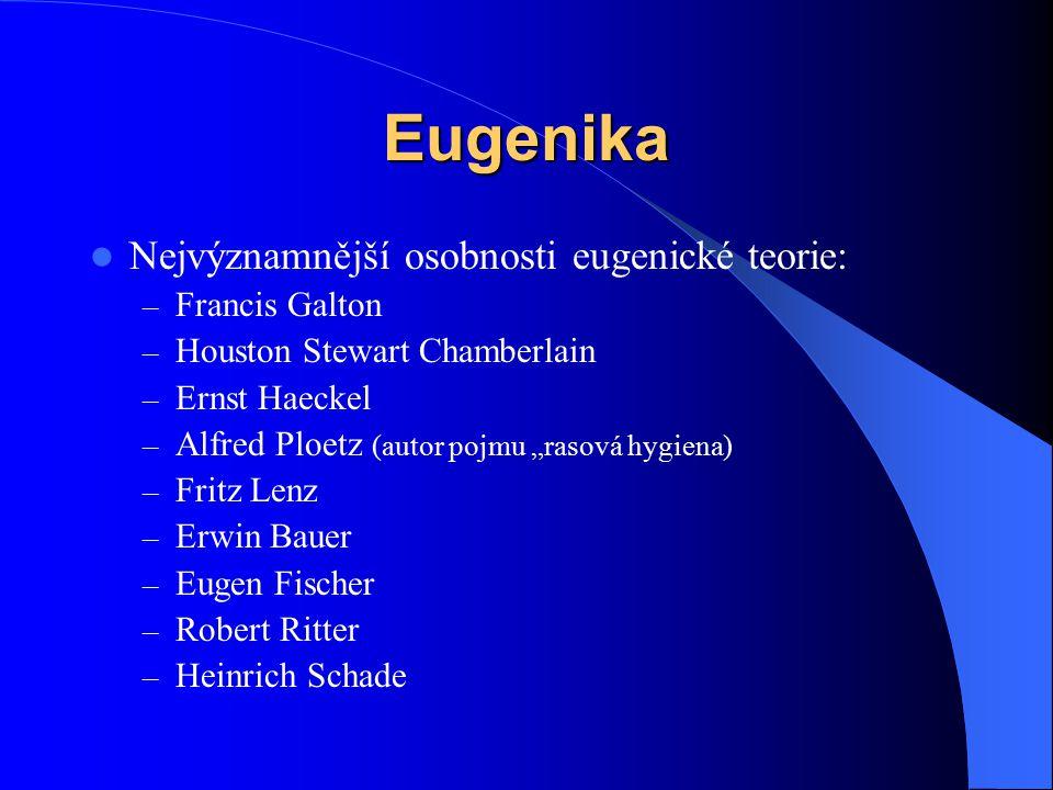 Eugenika Nejvýznamnější osobnosti eugenické teorie: Francis Galton