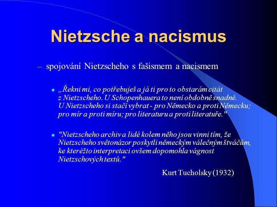 Nietzsche a nacismus Kurt Tucholsky (1932)