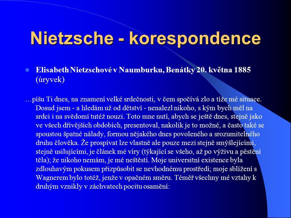 Nietzsche - korespondence