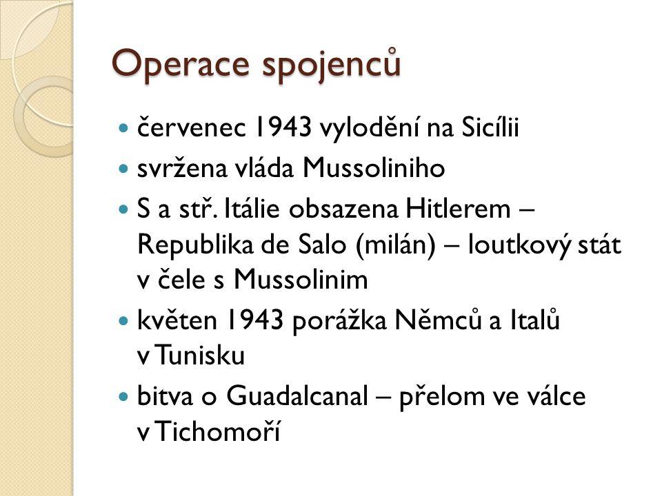 Operace spojenců červenec 1943 vylodění na Sicílii