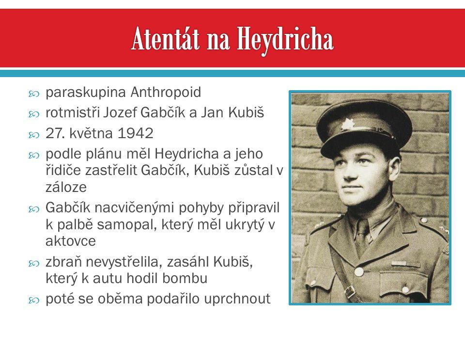 Atentát na Heydricha paraskupina Anthropoid