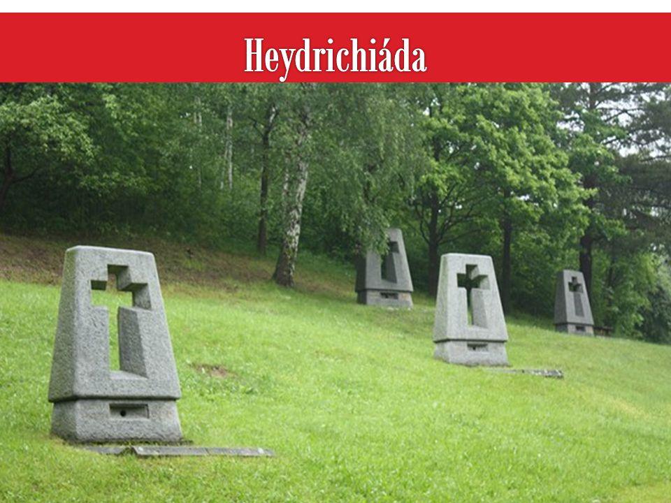 Heydrichiáda Lidice před a po vypálení