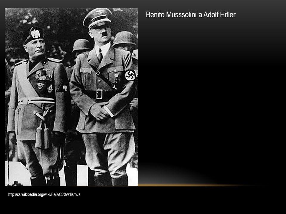 Benito Musssolini a Adolf Hitler
