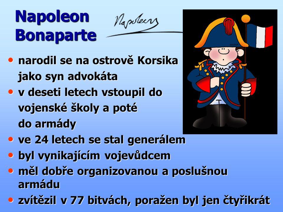 Napoleon Bonaparte narodil se na ostrově Korsika jako syn advokáta