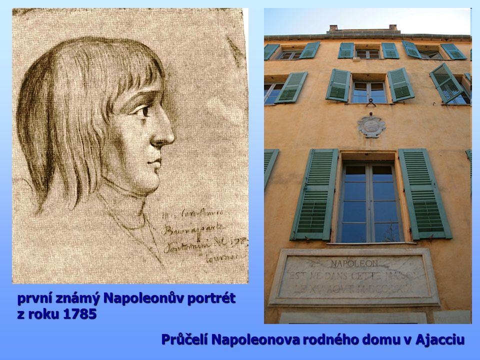 první známý Napoleonův portrét z roku 1785