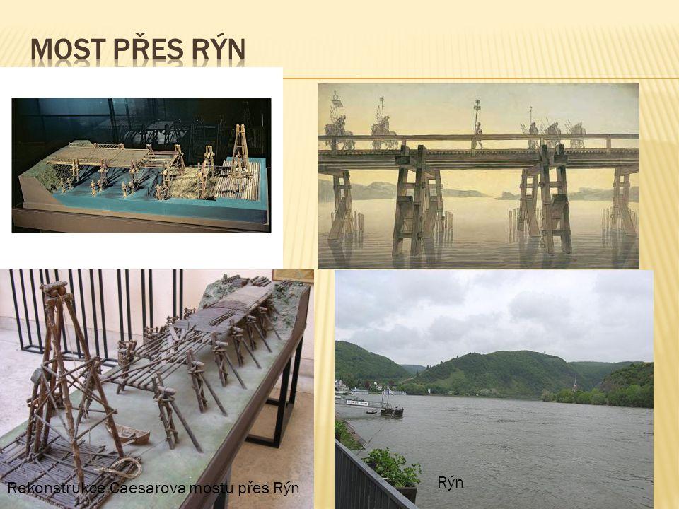 Most přes rýn Rýn Rekonstrukce Caesarova mostu přes Rýn