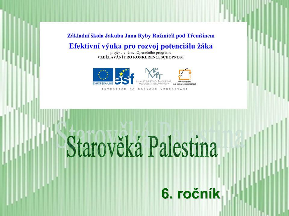 Starověká Palestina 6. ročník