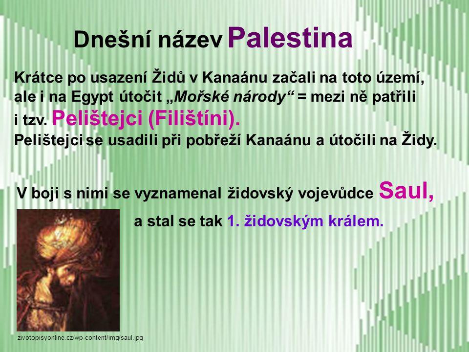 Dnešní název Palestina