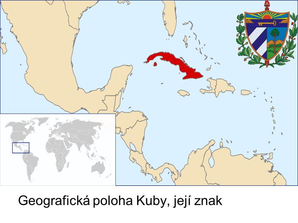 Geografická poloha Kuby, její znak