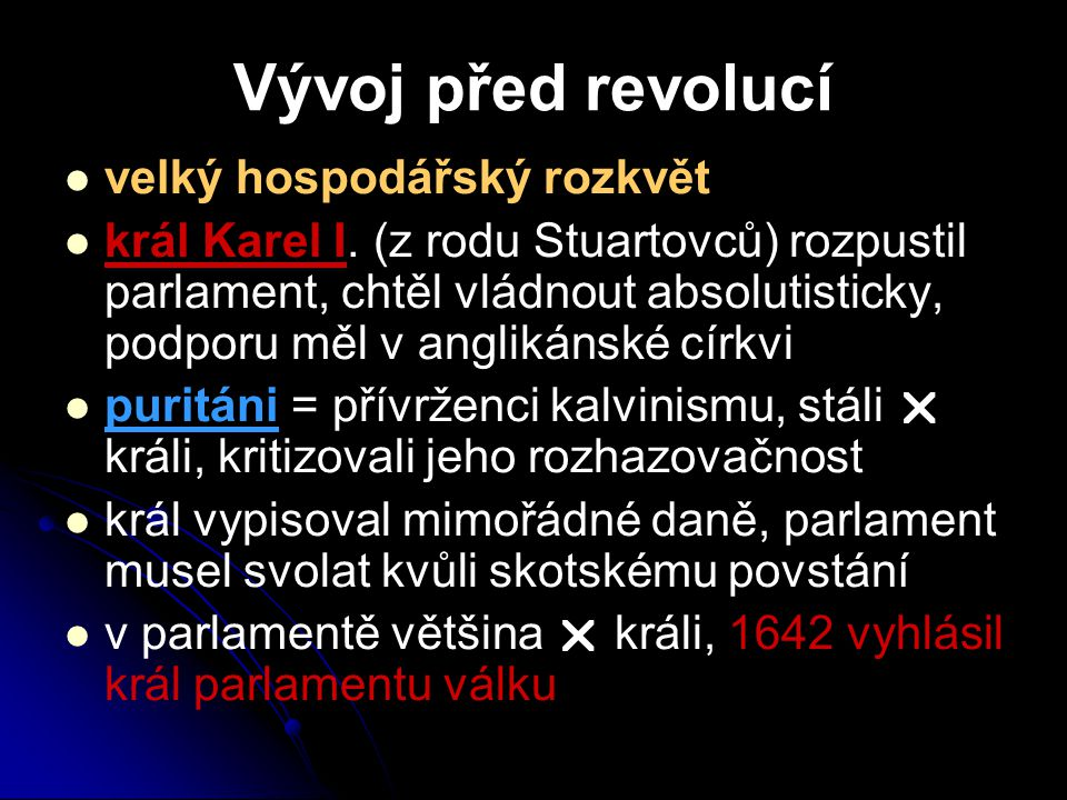 Vývoj před revolucí velký hospodářský rozkvět