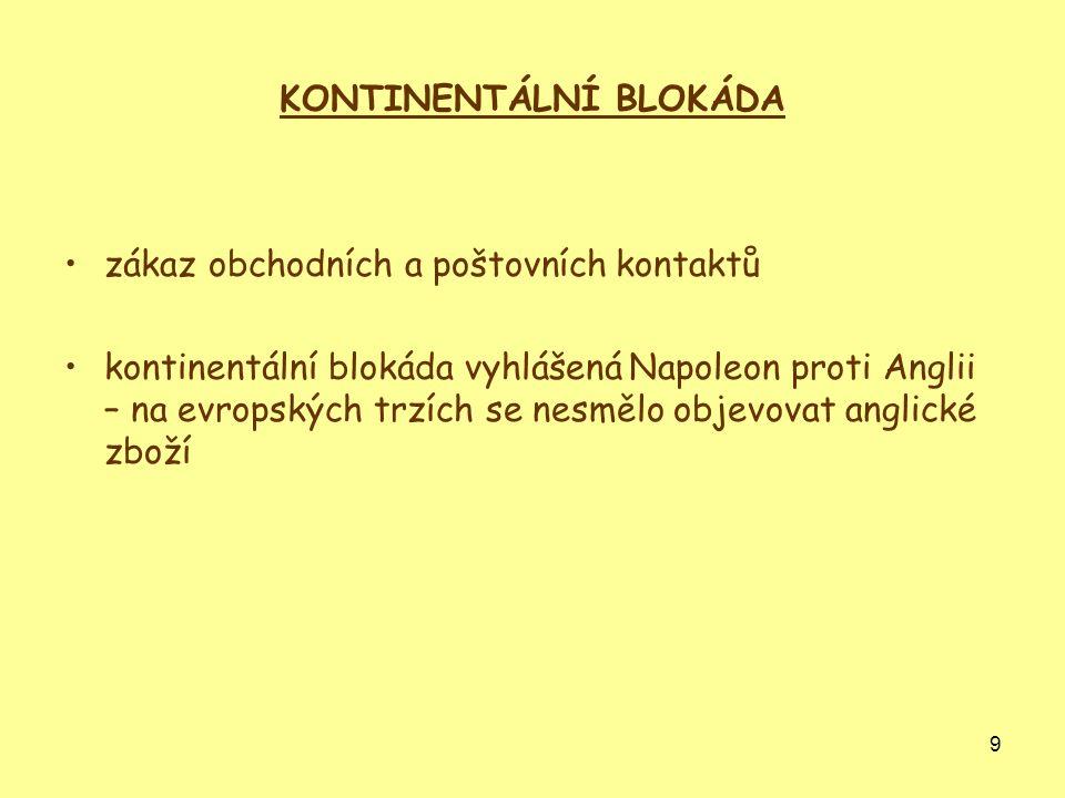 KONTINENTÁLNÍ BLOKÁDA
