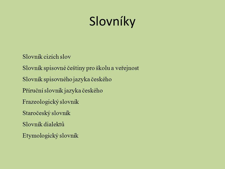 Slovníky Slovník cizích slov