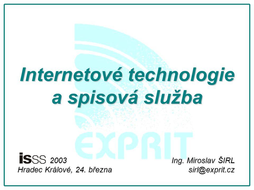 Internetové technologie a spisová služba