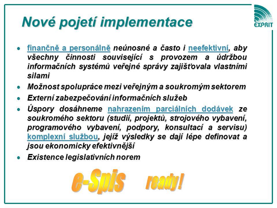 Nové pojetí implementace