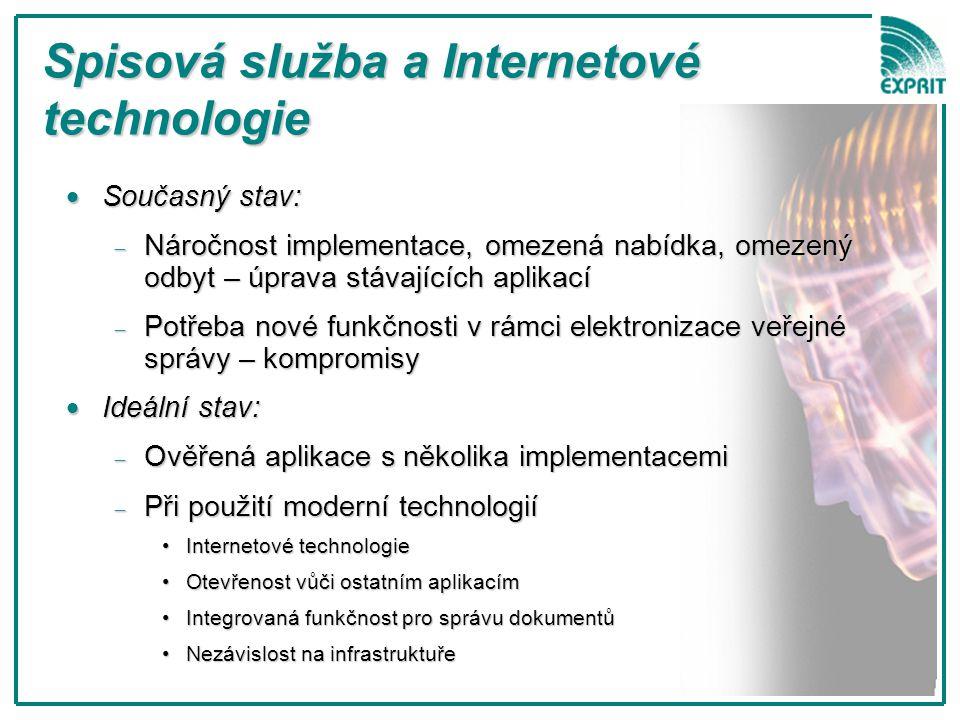 Spisová služba a Internetové technologie
