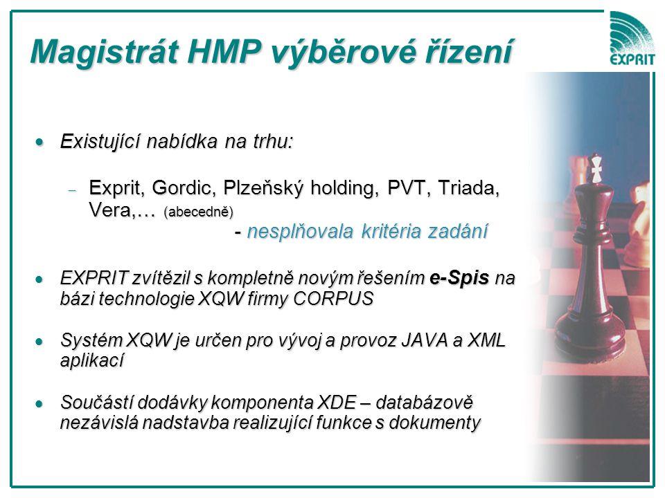 Magistrát HMP výběrové řízení