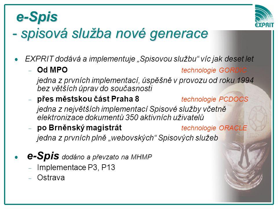 e-Spis - spisová služba nové generace