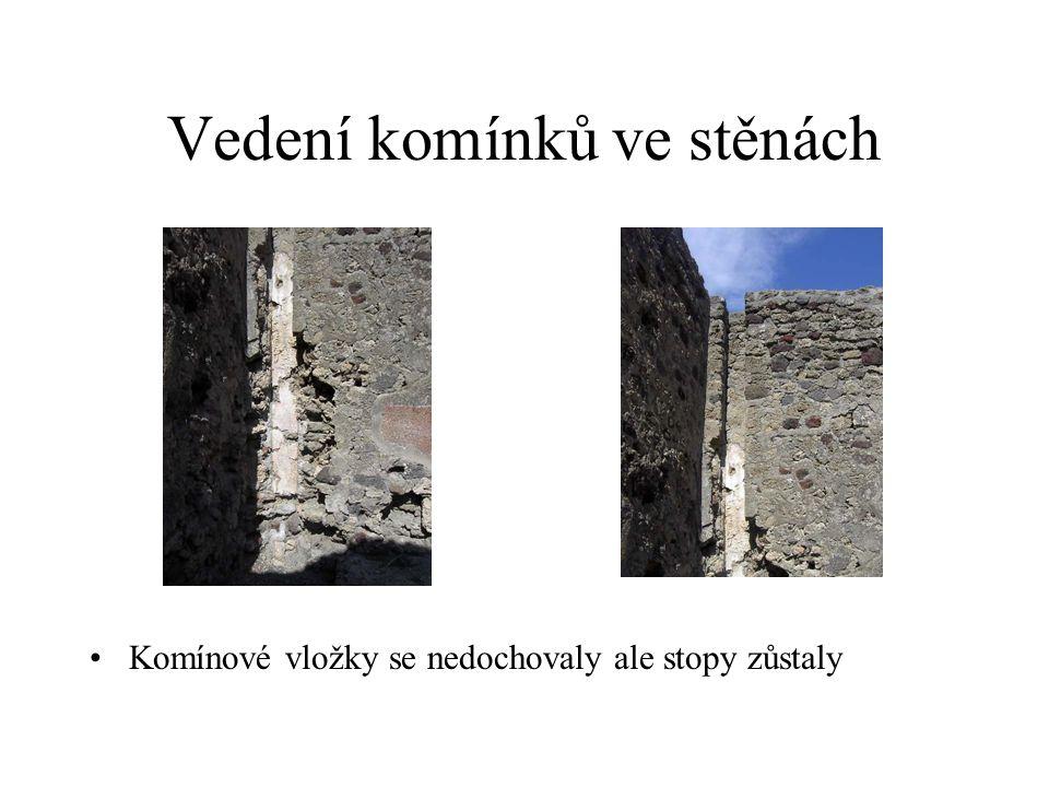 Vedení komínků ve stěnách