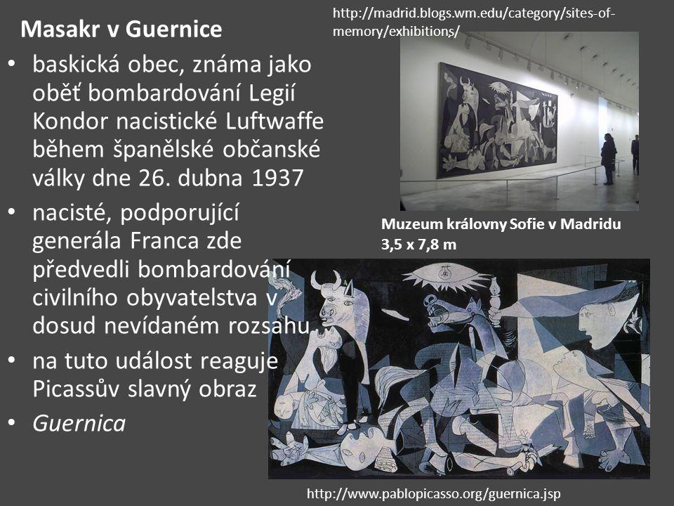 na tuto událost reaguje Picassův slavný obraz Guernica