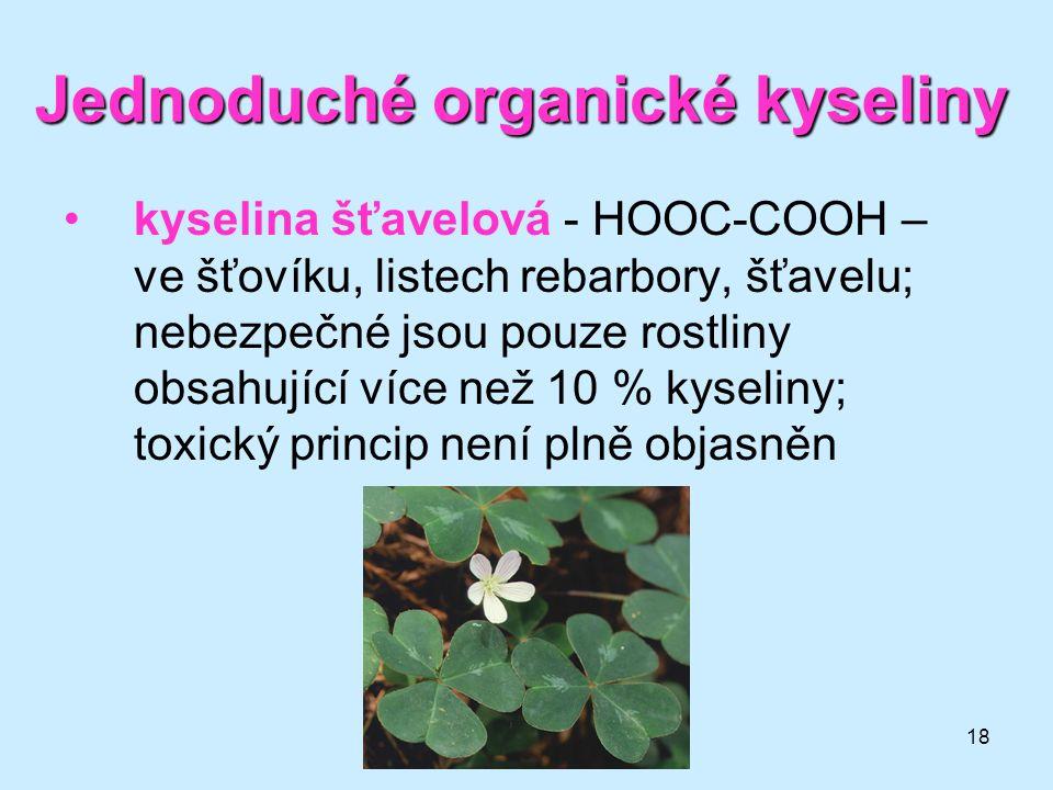 Jednoduché organické kyseliny