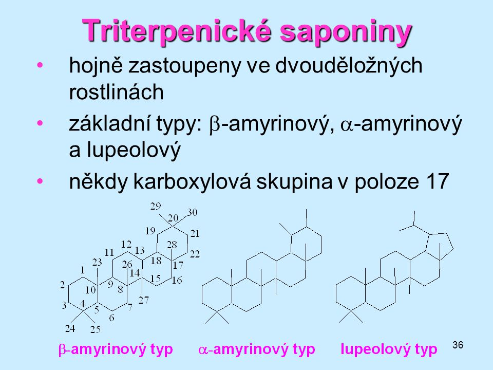 Triterpenické saponiny