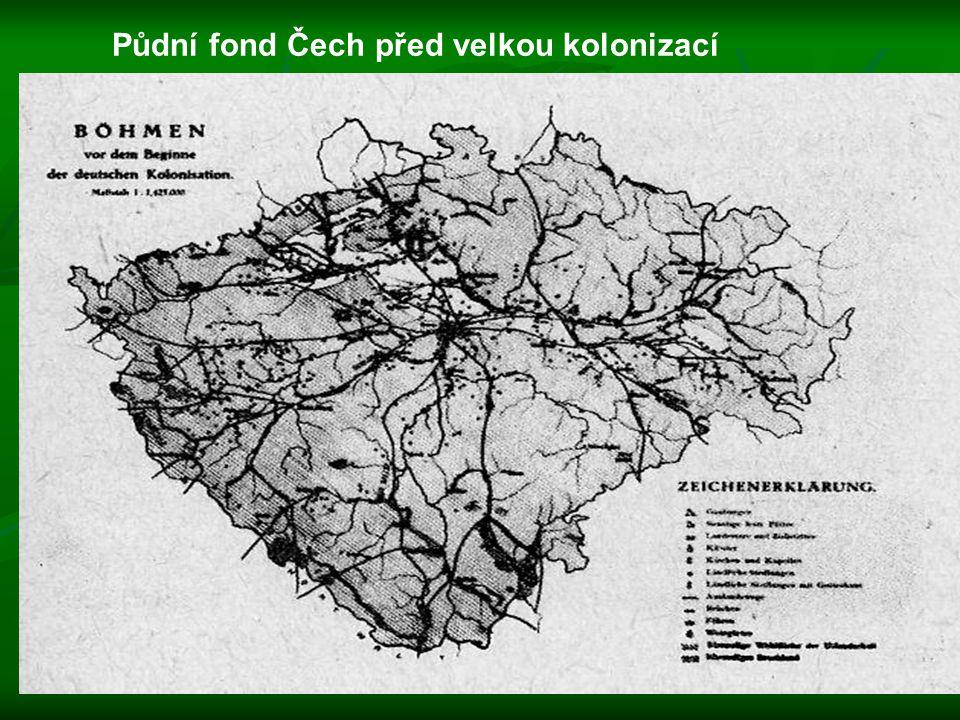 Půdní fond Čech před velkou kolonizací