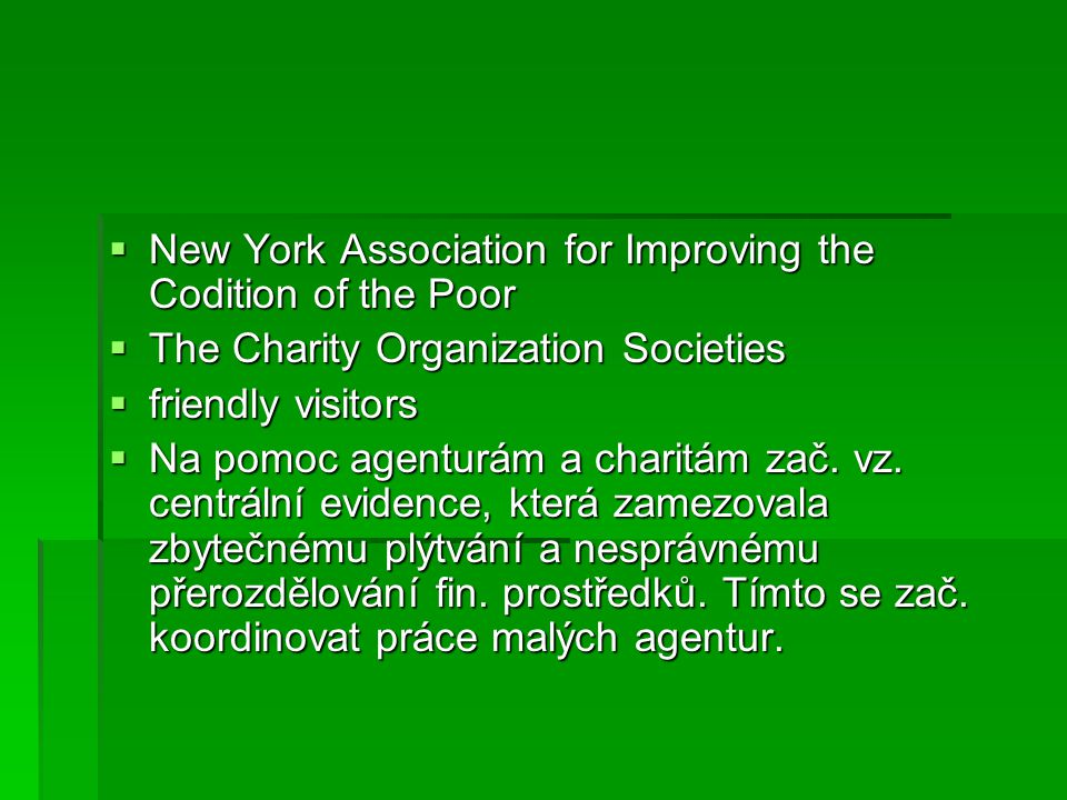 New York Association for Improving the Codition of the Poor