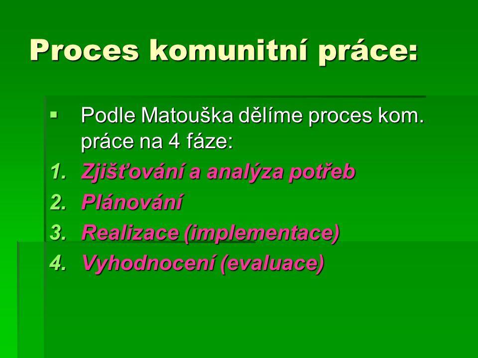 Proces komunitní práce: