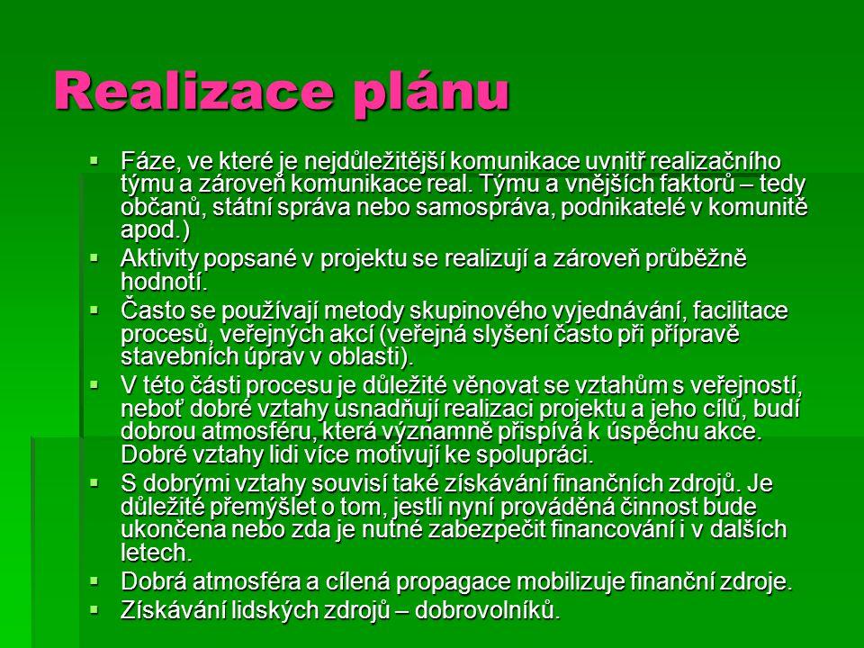 Realizace plánu