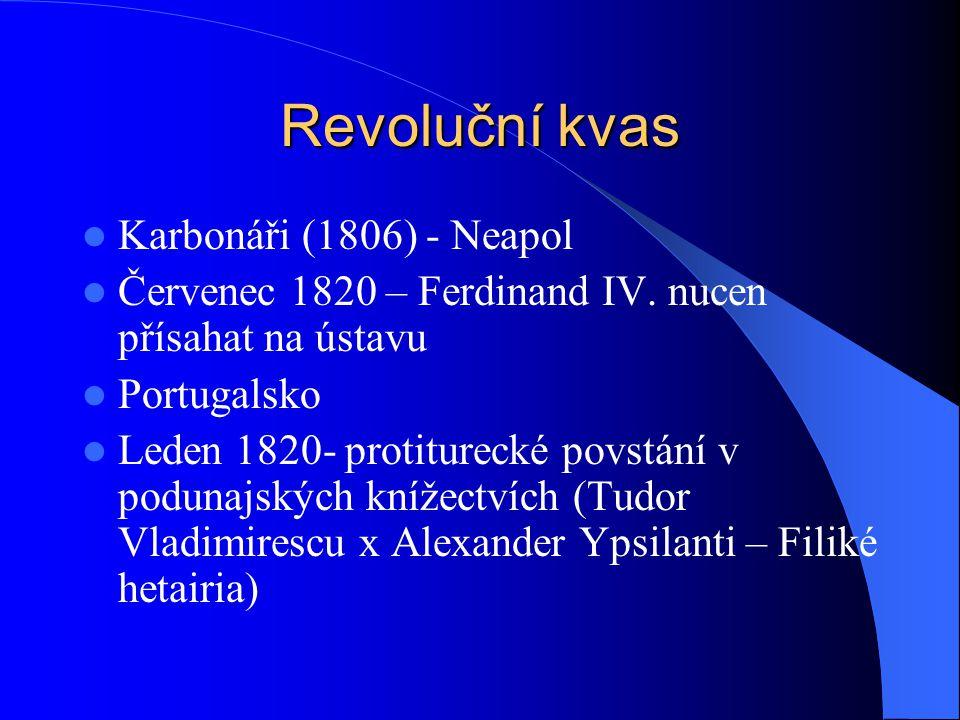 Revoluční kvas Karbonáři (1806) - Neapol