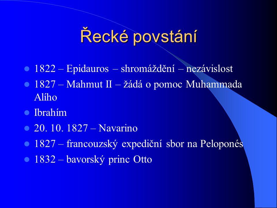 Řecké povstání 1822 – Epidauros – shromáždění – nezávislost
