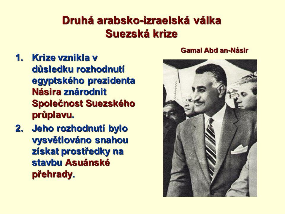 Druhá arabsko-izraelská válka Suezská krize