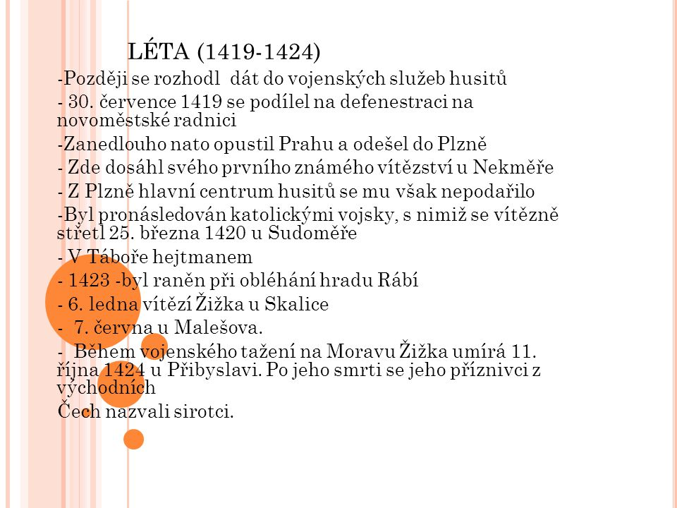 LÉTA (1419-1424)