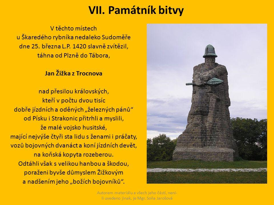 VII. Památník bitvy