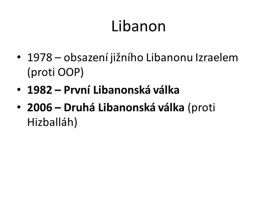 Libanon 1978 – obsazení jižního Libanonu Izraelem (proti OOP)