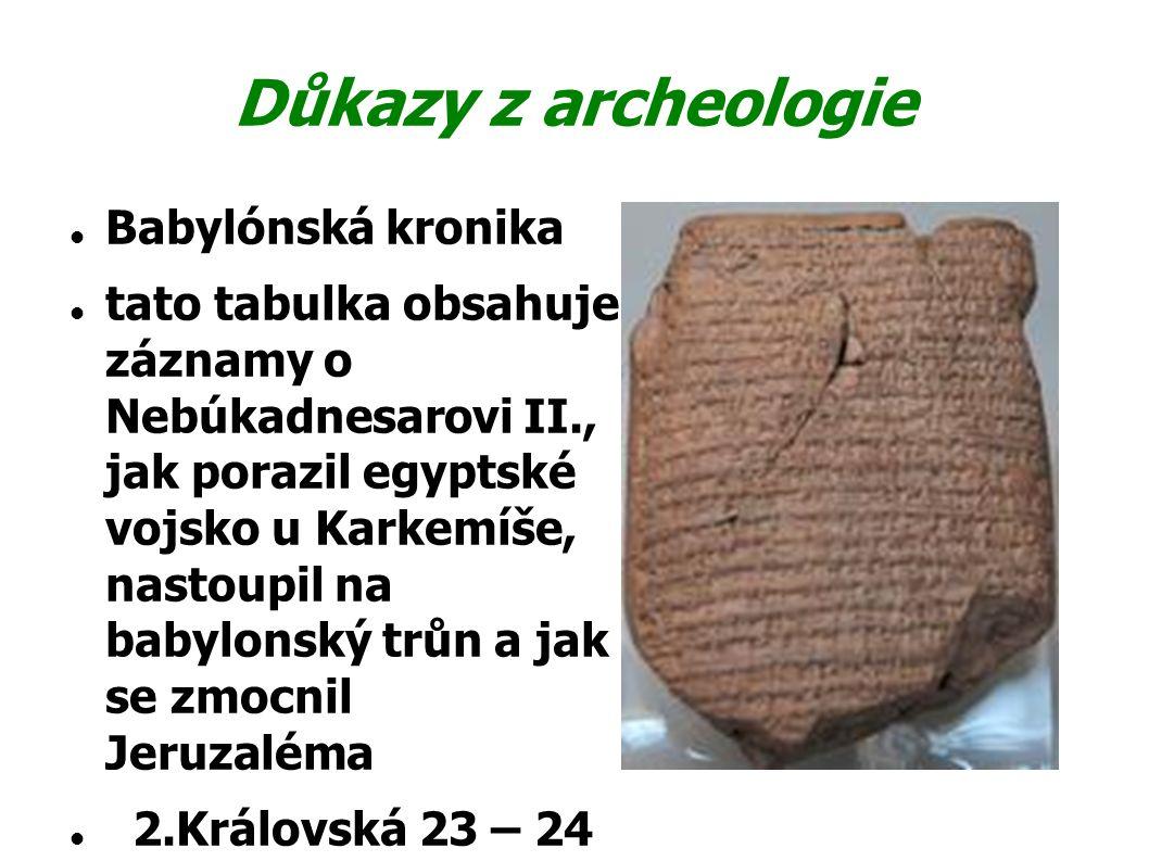 Důkazy z archeologie Babylónská kronika