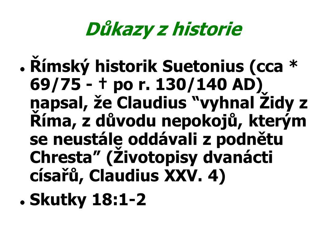 Důkazy z historie