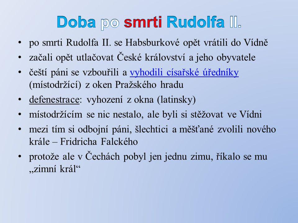 Doba po smrti Rudolfa II.