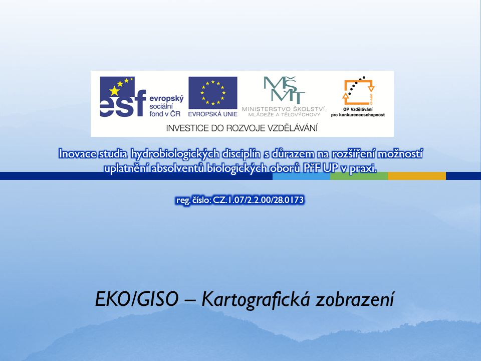 EKO/GISO – Kartografická zobrazení
