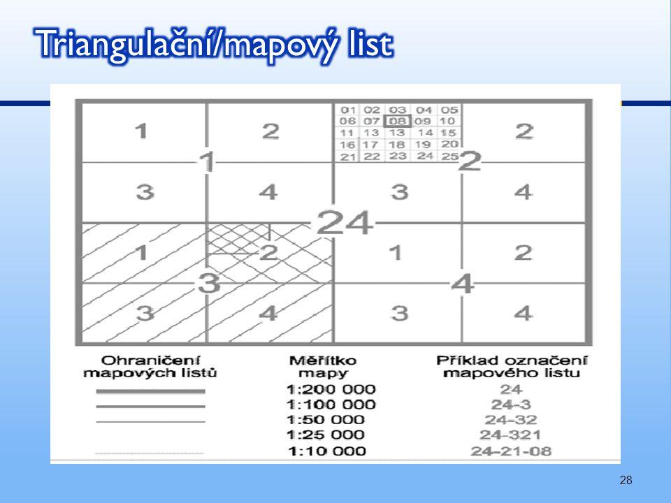 Triangulační/mapový list