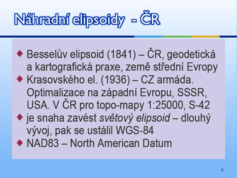 Náhradní elipsoidy - ČR