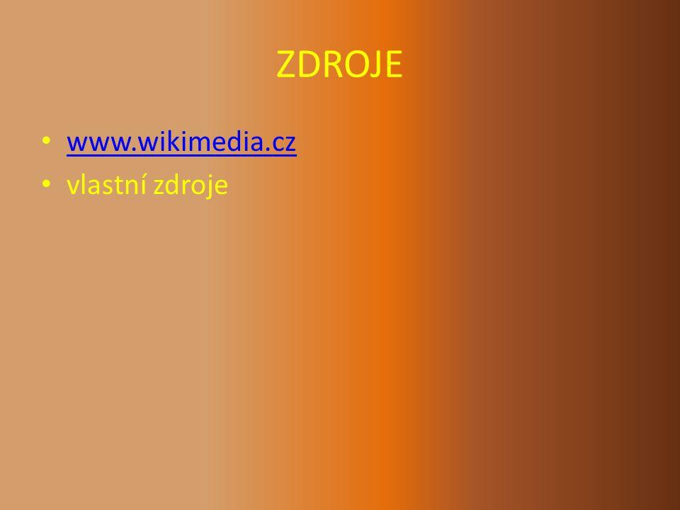ZDROJE www.wikimedia.cz vlastní zdroje